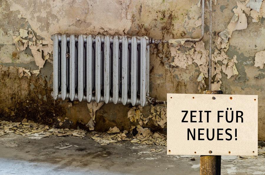 Heizungsarbeiten Dortmund Meschkat vorher